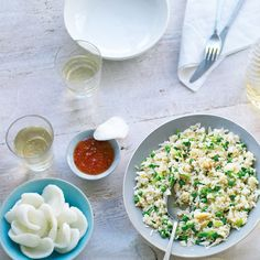 This quick egg fried rice recipe is a fragrant accompaniment to any Chinese dinner.
