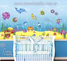 COMO LO SONÉ... Mural Digital, Cribs, Bed, Furniture, Home Decor, Murals, Cots, Homemade Home Decor, Bassinet