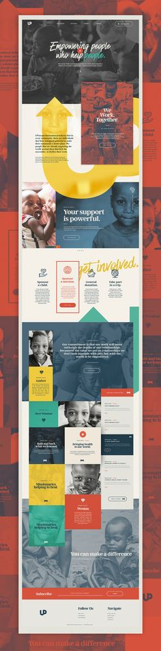 Upstream International – Ui design concept for a fictional humanity foundation by Nick Franchi.