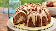 Praline Bundt Cake - you can also make it in a sheet cake. Most bundt cakes only need a simple glaze or dusting of powder...