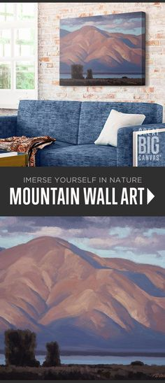 """Mountain wall art collection - """"Farmington Bay View"""" by Rob Colvin available at Great BIG Canvas. Mountain Sunset, Mountain Art, Framed Prints, Canvas Prints, Big Canvas, Landscape Paintings, Wild Flowers, Serenity, Scenery"""