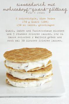 Eissandwich mit dickmann-Quark-Füllung