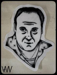 AWA Production Black Traditional Tattoo Project Tony Soprano.