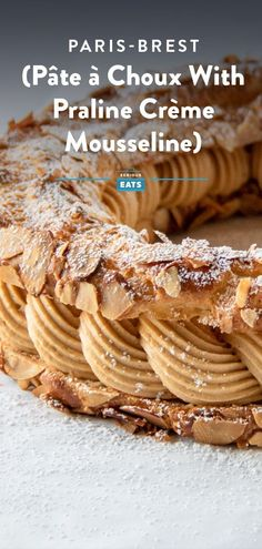 Almond-studded choux pastry and rich, nutty praline crème mousseline join forces in this impressive French dessert. #Pastry #French #Baking #Sweets #Dessert #SeriousEats Brunch Recipes, Cocktail Recipes, Dessert Recipes, Desserts, Brunch Items, Homemade Muffins, Choux Pastry, Serious Eats, Sliced Almonds