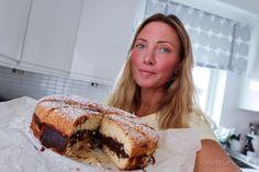Sverigekaka med chokladkräm | MATPLATSEN Pie, Desserts, Food, Torte, Tailgate Desserts, Cake, Deserts, Fruit Pie, Eten