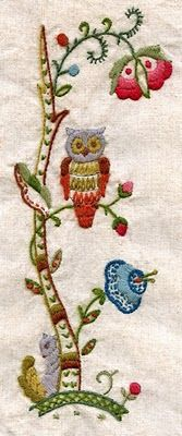 Two Hand Design: Squirrel and Owl Embroidery Owl Embroidery, Cross Stitch Embroidery, Rose Bowl Flea Market, Different Stitches, Hand Designs, Squirrel, Arts And Crafts, Kids Rugs, Quilts