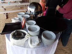 Desert Foothills Barn Wedding Venue Buffet Being Prepared