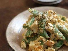 スナップえんどうと茹で卵のサラダの画像