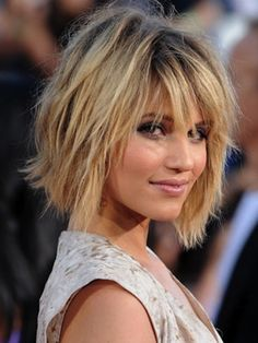 Back View of Short Layered Hairstyles | Dianna Agron Short Bob Hairstyles with Bangs | Short Hairstyles 2013