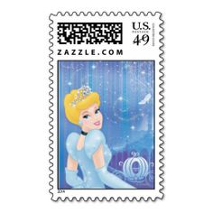 Shop Cinderella Princess Card created by DisneyPrincess. Personalize it with photos & text or purchase as is! Walt Disney, Cute Disney, Alice Disney, Disney Pins, Disney Stuff, Cinderella Birthday, Cinderella Princess, Postage Stamp Design, Postage Stamps