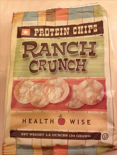"High protein chips- 10gm of protein per bag. Use as a snack post surgery once following a ""regular healthy low fat diet"""