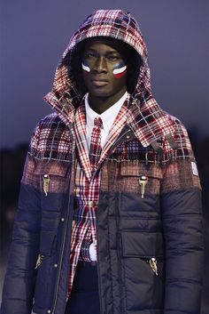 100%+AUTHENTIC+    MONCLER+GAMME+BLEU    Red+Contrast+Check+Print+Padded+Jacket  Red+and+blue+wool+contrast+check+print+padded+jacket+featuring+a+hood+with+two+gold-tone+side+buckle+fastenings,+a+concealed+zip+fastening,+long+sleeves,+a+straight+hem+and+four+front+flap+pockets.    Model+32+391+40...