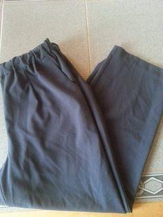 Sag Harbor Stretch Pants. Elastic Waist band. Womens Plus Sz 16W Navy Blue #SagHarbor #CasualPants