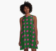 Beautiful A-Line Dresses from our 'Garden Flowers' collection  https://www.redbubble.com/people/christinebarre/works/25342038-garden-flowers?asc=t&p=a-line-dress via @redbubble #womens #fashion