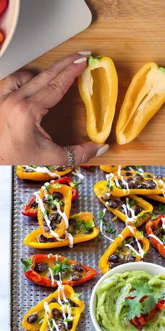 Nacho lovers can really appreciate this recipe. Devour this Bell Pepper Nachos Recipe without the guilt of all the carbs! These nachos make a great addition to a healthy buffet, dinner or tailgating party. # Food and Drink dinner videos BELL PEPPER NACHOS Healthy Meal Prep, Healthy Cooking, Healthy Dinner Recipes, Healthy Snacks, Vegetarian Recipes, Cooking Recipes, Vegetarian Nachos, Vegetarian Appetizers, Healthy Recipe Videos