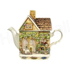 Sadler Teapot, Wysteria (Country Cottages), 2-Cup