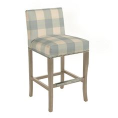 Harris Counter Stool with Pewter Nailheads