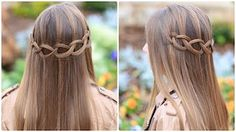 Feather Waterfall & Ladder Braid Combo | Cute 2-in-1 Hairstyles - YouTube