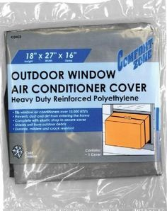"""Air Conditioner Cover Outdoor SKU: CZAC2 by Constructor. $10.99. 18""""X27""""X16""""  OUTDOOR   WINDOW AIR CONDITIONER COVER  6  Mil.  Thickness   Elasticized for a Tight, Secure Fit   Will Not Crack or Mildew. Save 33%!"""