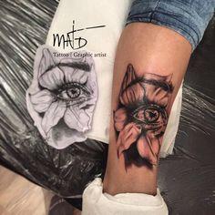 Flower eye tattoo @Dejcsi