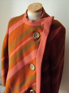 VTG 60s Striped Swing Pixie Mod Coat by nanapatproject on Etsy, $120.00