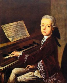 Wolfgang Amadeus Mozart as a young boy