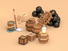 Low poly pirates! on Behance                                                                                                                                                                                 More