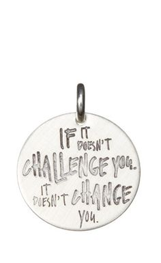 Sterling Silver 'If It Doesn't Challenge You' Charm