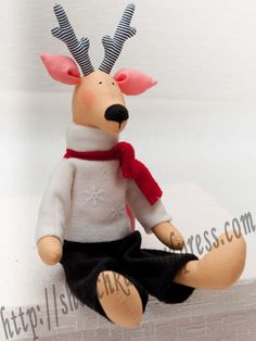 free reindeer doll pattern from shtuchka.files.wordpress.com