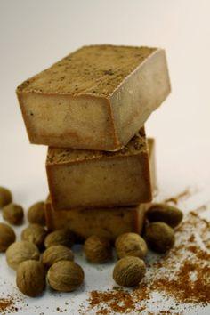 Handmade Shea Butter Soap Creamy Nutmeg by Blackberrythyme