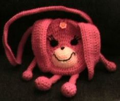 Crochet a Pink Bunny Purse~I'd leave the legs off. :)