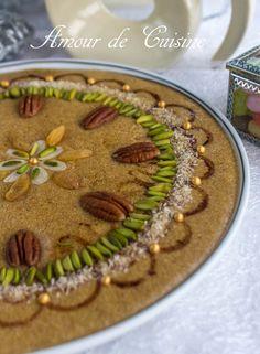 tamina du mawlid nabawi Plus Afghan Food Recipes, My Recipes, Cookie Recipes, Eid Cookies Recipe, Canadian Butter Tarts, Halva Recipe, Algerian Recipes, Algerian Food, Egyptian Food