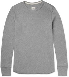 Rag & bone Waffle-Knit Cotton T-Shirt Waffle Knit, Mens Tees, Style Guides, Men Sweater, Just For You, Mens Fashion, Sweatshirts, Sweaters, Cotton