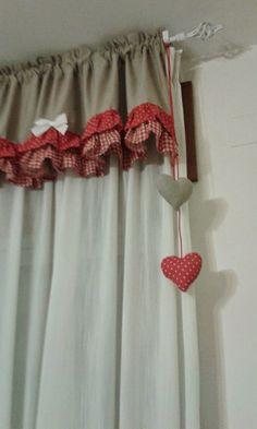 copriforno detto fatto - Cerca con Google Burlap Curtains, Country Curtains, Modern Curtains, Drapes Curtains, Valances, Cortinas Shabby Chic, Diy Home Decor, Room Decor, Creation Deco