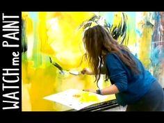 Abstract acrylic painting - peinture abstrait - abstrakte Malerei by zAcheR-finet - YouTube