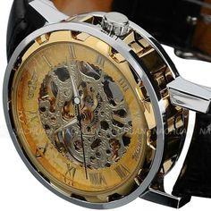 PERFECT GIFT For Friends, Family And Colleagues - Transparent Dial With Skeleton Design - Stainless Steel Watch Case Back Makes The Watch More Durable - High Quality Leather Band Gives You A New Class