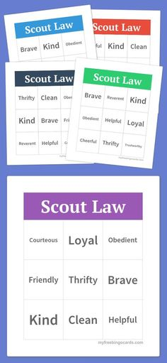 cub scouts Make your own free bingo cards at