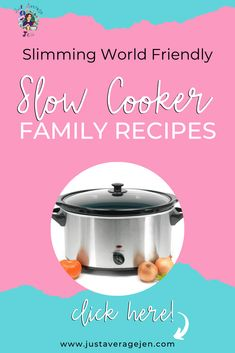 Looking for Slimming World slow cooker recipes? Here are the BEST Tasty Slimming World Slow cooker recipes for you to make for the family. Slow Cooker Slimming World, Slimming World Fakeaway, Slimming World Recipes, Slow Cooker Recipes Family, Slow Cooker Desserts, Family Meals, Other Recipes, Whole Food Recipes, Healthy Recipes