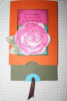 Splitcoaststampers - Hidden Message Slider Project Tutorial by Beate Johns
