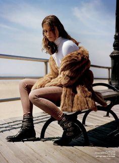 Andreea And The Finest Furs: Andreea Diaconu By Alasdair Mclellan For V #85 Fall 2013