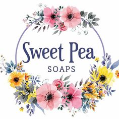 Sweet Pea Soaps  #logo #branding #design #designer #flowers #pink #yellow #soap #sweet #purple #business