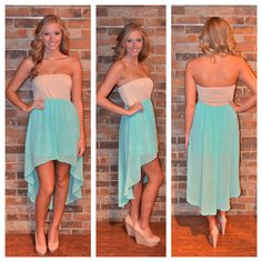 love the colors and this hi lo dress