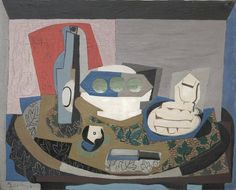 Still Life with Biscuits, 1924 Pablo Picasso (Spanish, 1881-1973) oil, sand, other materials on canvas,