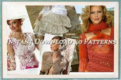 In this E-book:  40 new projects dresses, jackets, skirts with diagrams and patterns for all projects. In Russian language.  99 pages    Instant Download 2 PDF Files:  - 506.1.pdf 6.05 MB  - 506.2.pdf 9.36 MB  Not a paperback!    You can find many other crochet patterns in my store:  http://www.etsy.com/shop/YourCreativeCrochet