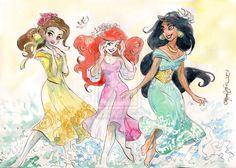 Belle, Ariel & Jasmine