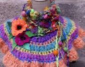 Chauffe épaules et cou, laine filée main et mohair artisanal