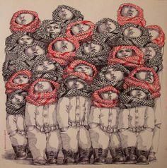 Houmam Alsayed  Ink on Paper 50x50 cm Art Fair Beirut, 2013
