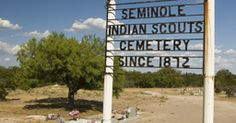 seminole scouts | Seminole Indian Scout Cemetery in Brackettville where many scouts ...