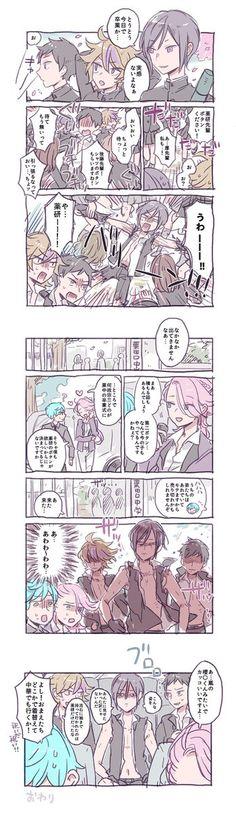 大将組の卒業式漫画(現パロ)