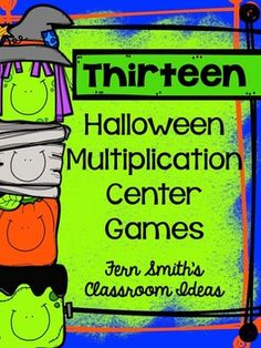 This 110 Paged Halloween Themed Center Game has one game for every times tables ~ Zero to Twelve!! #TPT $Paid